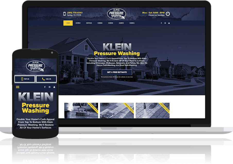 Pressure Wash Website
